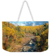 Autumn Color Along Beaver River Weekender Tote Bag