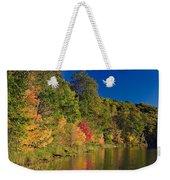 Autumn Color Trees Along Beauty Lake Weekender Tote Bag