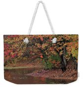 Autumn Colors By The Pond Weekender Tote Bag