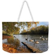 Autumn Colours At Sunbury On Thames Surrey Uk Weekender Tote Bag