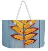 Autumn Colours On Blue Weekender Tote Bag
