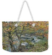 Autumn Comes To The Unami Creek Weekender Tote Bag