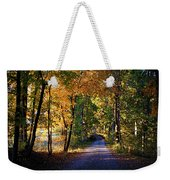 Autumn Country Lane Weekender Tote Bag