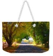 Autumn Country Lane Weekender Tote Bag