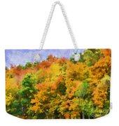Autumn Country On A Hillside II - Digital Paint Weekender Tote Bag