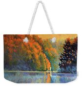 Autumn Day Rising Weekender Tote Bag