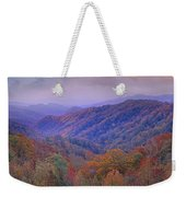 Autumn Deciduous Forest Great Smoky Weekender Tote Bag
