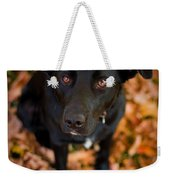 Autumn Dog Weekender Tote Bag