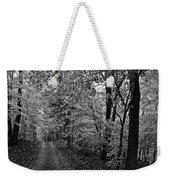 Autumn Drive Bnw Weekender Tote Bag