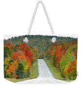 Autumn Drive Weekender Tote Bag