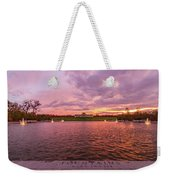 Autumn Evening At Forest Parks Grand Basin Weekender Tote Bag