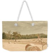 Autumn Farming And Agriculture Landscape Weekender Tote Bag