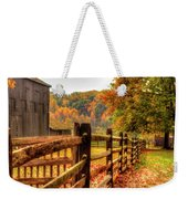 Autumn Fence Posts Scenic Weekender Tote Bag