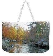 Autumn Flows Toward Winter Weekender Tote Bag