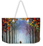 Autumn Fog 4 - Palette Knife Oil Painting On Canvas By Leonid Afremov Weekender Tote Bag
