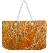 Autumn Grass Abstract Weekender Tote Bag