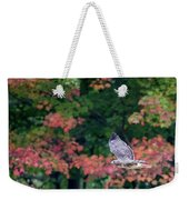 Autumn Hawk Square Weekender Tote Bag