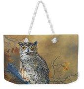 Autumn Highlights - Great Horned Owl Weekender Tote Bag