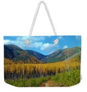 Autumn Hike Weekender Tote Bag