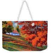 Autumn Hillside Weekender Tote Bag