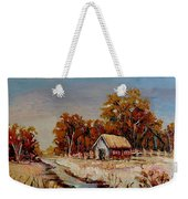 Autumn House By The Stream Weekender Tote Bag