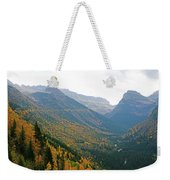 Autumn In Glacier Weekender Tote Bag