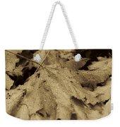 Autumn In Sepia Weekender Tote Bag
