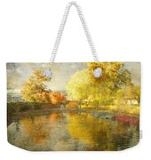 Autumn In The Pond Weekender Tote Bag