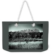 Autumn In The Wetlands - Black And White Weekender Tote Bag