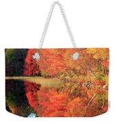 Autumn Lake Scenery Weekender Tote Bag