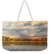 Autumn. Lake. Weekender Tote Bag