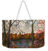 Autumn Lake View Weekender Tote Bag