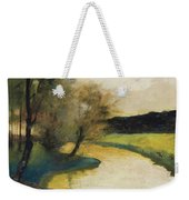 Autumn Landscape Of Brook In The Evening Light Weekender Tote Bag