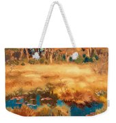 Autumn Landscape With Fox Weekender Tote Bag