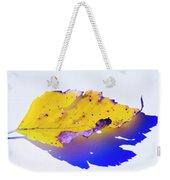Autumn Leaf Abstract Weekender Tote Bag