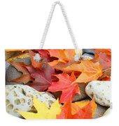 Autumn Leaves Art Print Coastal Fossil Rocks Baslee Troutman Weekender Tote Bag