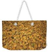 Autumn Leaves Canvas Weekender Tote Bag
