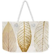 Autumn Leaves IIi Fallen Gold Weekender Tote Bag by Mindy Sommers