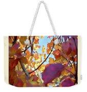 Autumn Leaves In Blue Sky Weekender Tote Bag