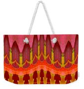 Autumn Leaves Polar Coordinate Abstract Weekender Tote Bag