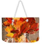 Autumn Leaves Still Life Weekender Tote Bag