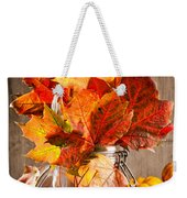 Autumn Leaves Still Life Weekender Tote Bag