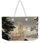 Autumn Leaves Winter Snow Weekender Tote Bag