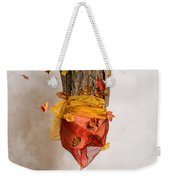 Autumn Mannequin With Falling Leaves Weekender Tote Bag