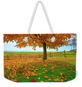 Autumn Maple Tree And Leaves Weekender Tote Bag
