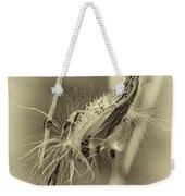 Autumn Milkweed 7 - Sepia Weekender Tote Bag