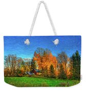 Autumn Moon Rising Weekender Tote Bag