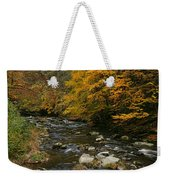 Autumn Mountain Stream Weekender Tote Bag