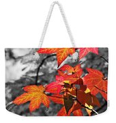 Autumn On Black And White Weekender Tote Bag