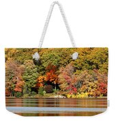 Autumn On Canoe Brook Lake Weekender Tote Bag